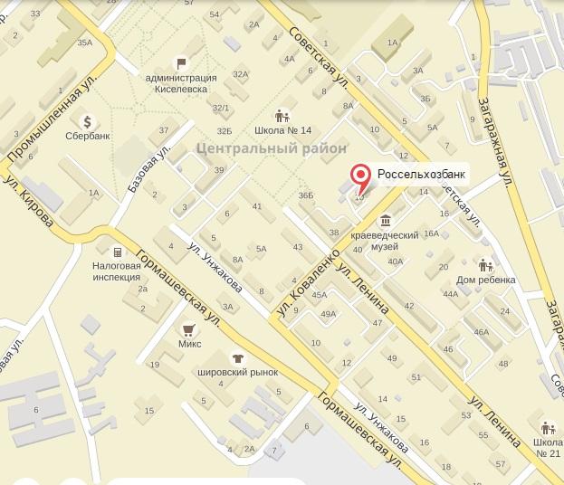 кредиты бизнесу адрес и телефон банка в киселевске
