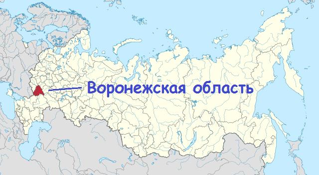 расположение территории воронежской области на карте россии